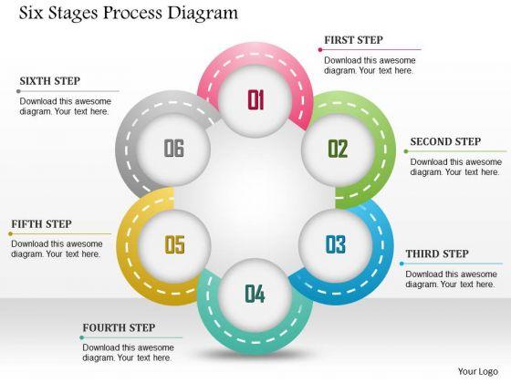 Business Diagram Six Stages Process Diagram Presentation Template
