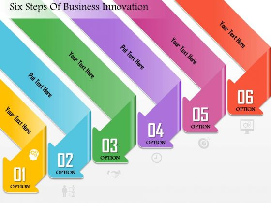 Business Diagram Six Steps Of Business Innovation Presentation Template