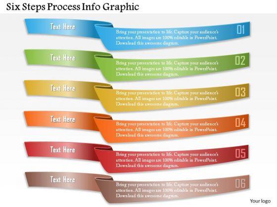 Business Diagram Six Steps Process Info Graphic Presentation Template