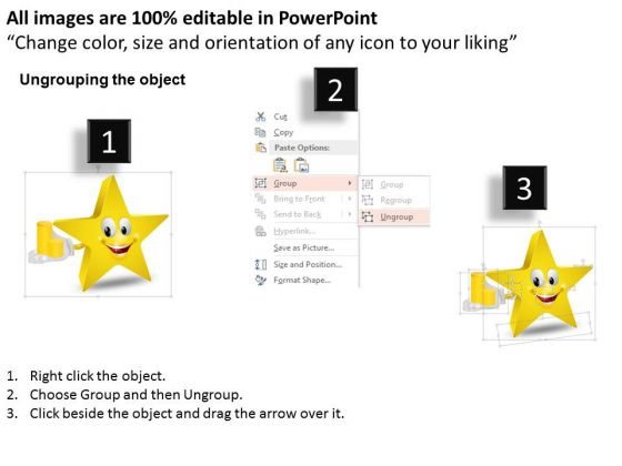 business_diagram_smiley_star_with_golden_coins_for_finance_powerpoint_slide_template_2