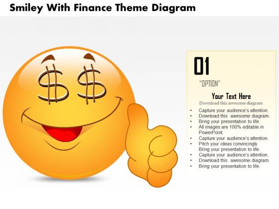 Business Diagram Smiley With Finance Theme Diagram PowerPoint Ppt Presentation