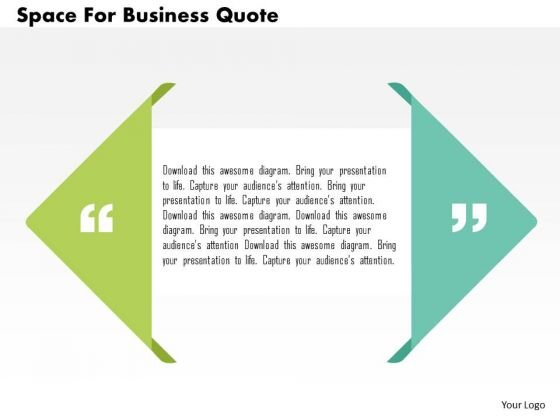 Business Diagram Space For Business Quote Presentation Template