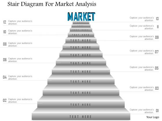 Business Diagram Stair Diagram For Market Analysis Presentation – Marketing Analysis Template