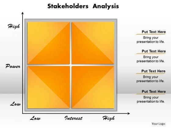Business Diagram Stakeholders Analysis PowerPoint Ppt Presentation