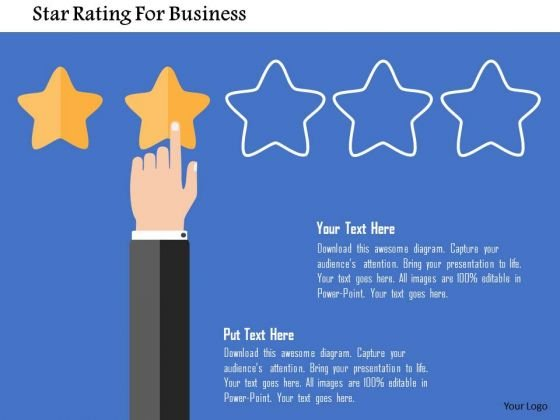 Business Diagram Star Rating For Business Presentation Template