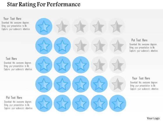 Business Diagram Star Rating For Performance Presentation Template
