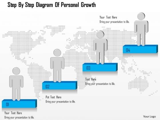 Business Diagram Step By Step Diagram Of Personal Growth Presentation Template