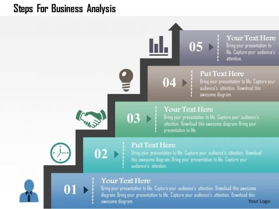 Business analysis infographic template. Process, cycle, diagram.