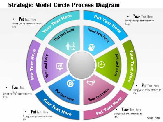 business diagram strategic model circle process diagram, Powerpoint templates