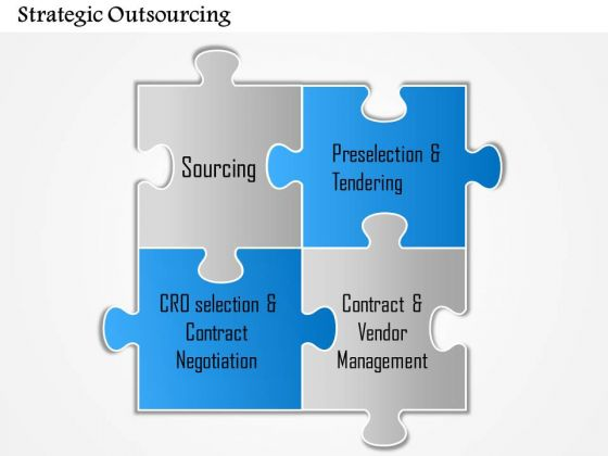 Business Diagram Strategic Outsourcing PowerPoint Ppt Presentation