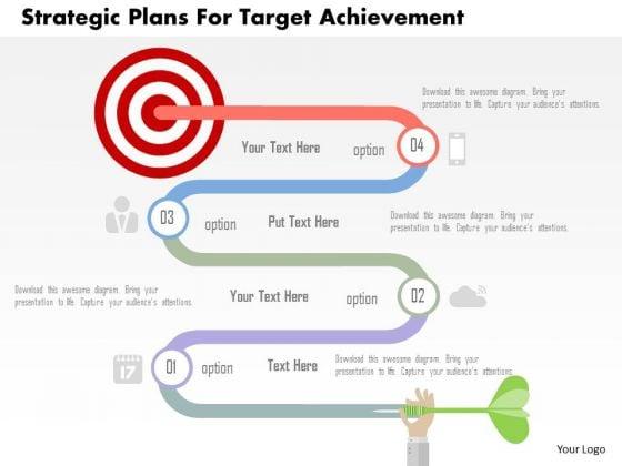 Business Diagram Strategic Plans For Target Achievement Presentation Template