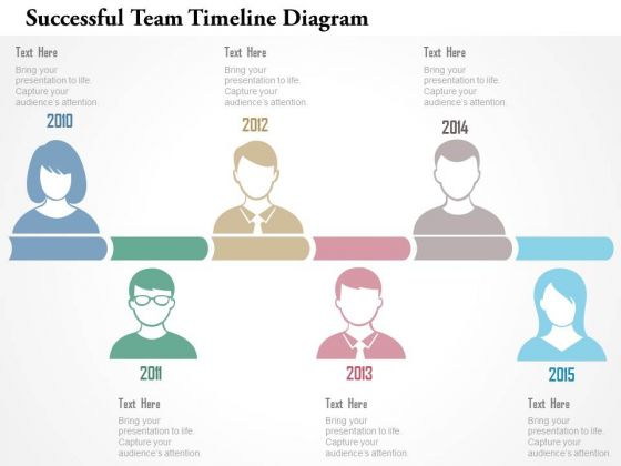 Business Diagram Successfull Team Timeline Diagram Presentation Template