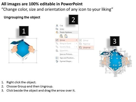 business_diagram_super_hero_with_chest_open_text_box_powerpoint_template_2