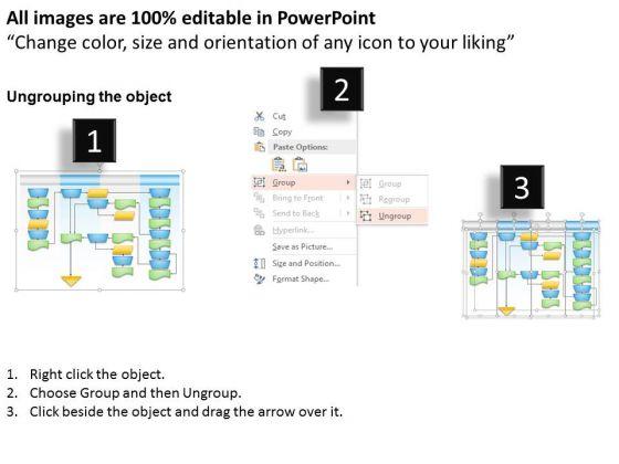 business_diagram_swim_lane_process_flow_chart_presentation_slide_template_2
