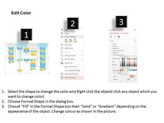business_diagram_swim_lane_process_flow_chart_presentation_slide_template_3