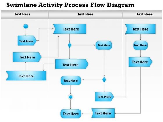Business Diagram Swimlane Activity Process Flow Diagram Presentation
