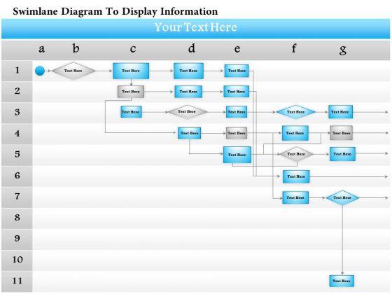 Business Diagram Swimlane Diagram To Display Information Presentation Template