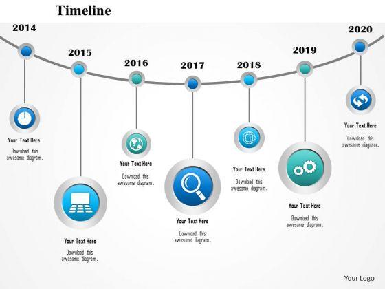 Business Diagram Swing Design Timeline Diagram Icons Presentation Template