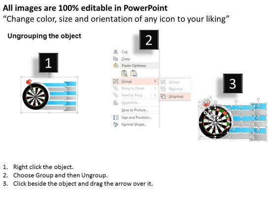 business_diagram_target_board_with_red_arrow_for_target_selection_presentation_template_2