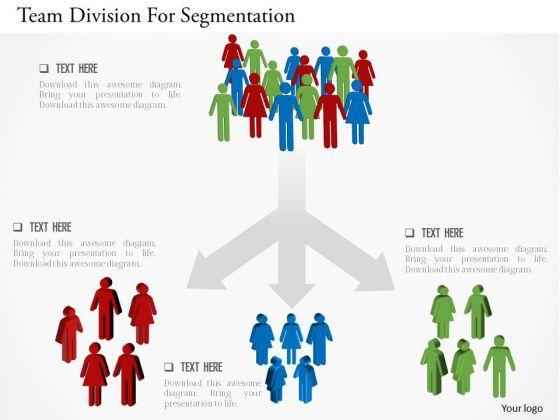 Business Diagram Team Division For Segmentation Presentation Template