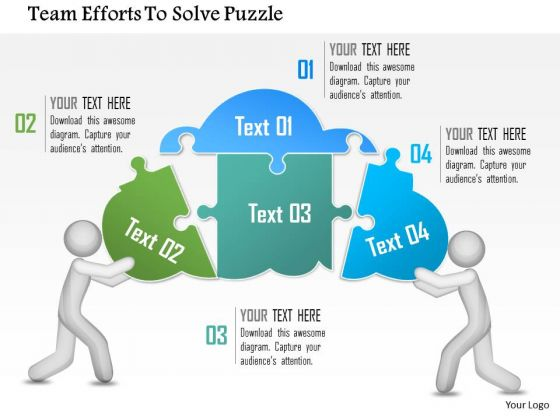 Business Diagram Team Efforts To Solve Puzzle Presentation Template