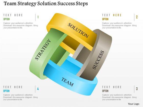 Business Diagram Team Strategy Solution Success Steps Presentation Template