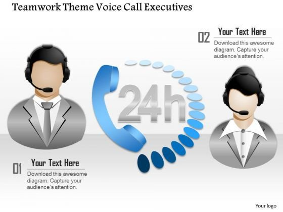 Business Diagram Teamwork Theme Voice Call Executives Presentation Template