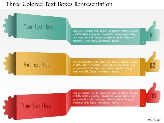 business_diagram_three_colored_text_boxes_representation_powerpoint_template_1