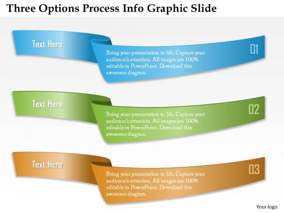 Business Diagram Three Options Process Info Graphic Slide Presentation Template