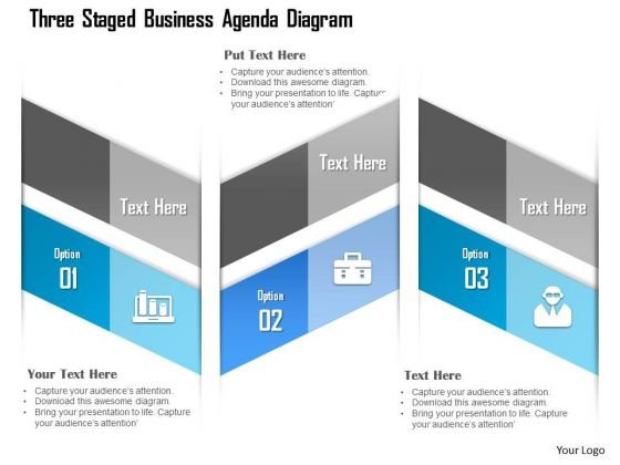 business_diagram_three_staged_business_agenda_diagram_presentation_template_1 business diagram three staged business agenda diagram presentation