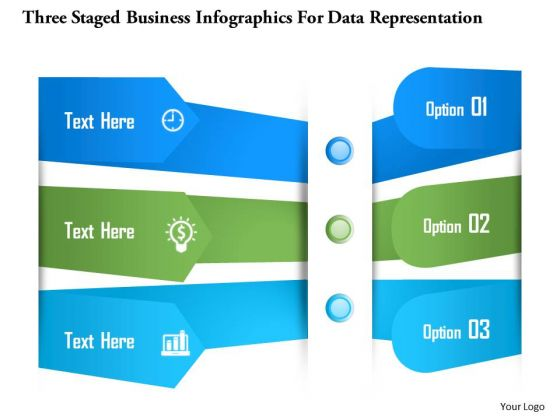 Business Diagram Three Staged Business Infographics For Data Representation Presentation Template