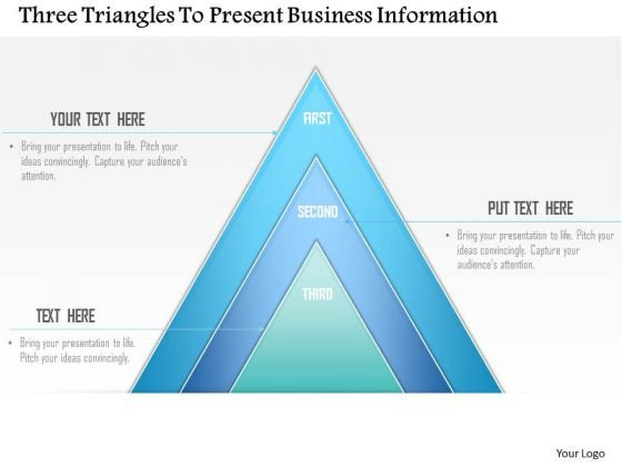 Business Diagram Three Triangles To Present Business Information Presentation Template