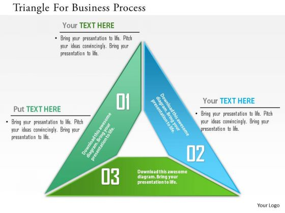 Business Diagram Triangle For Business Process Presentation Template