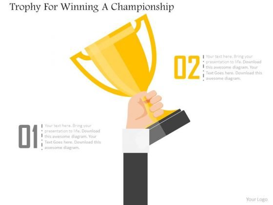 Business Diagram Trophy For Winning A Championship Presentation Template