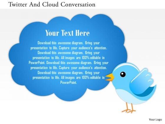 business_diagram_twitter_and_cloud_conversation_presentation_template_1