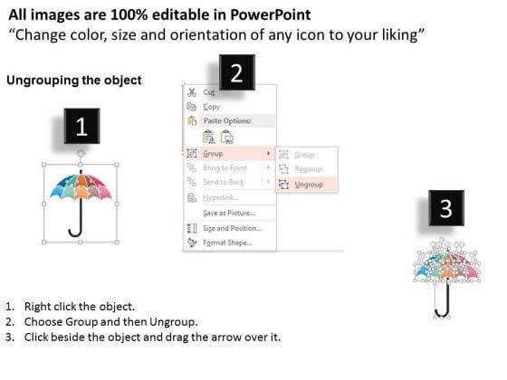 Business Diagram Umbrella Of Puzzle Pieces Presentation Template ...
