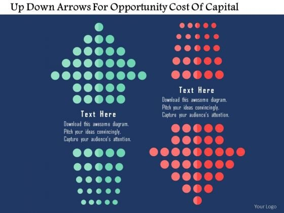 Business Diagram Up Down Arrows For Opportunity Cost Of Capital Presentation Template