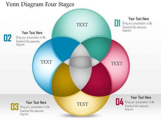 Business Diagram Venn Diagram Four Stages Presentation Template