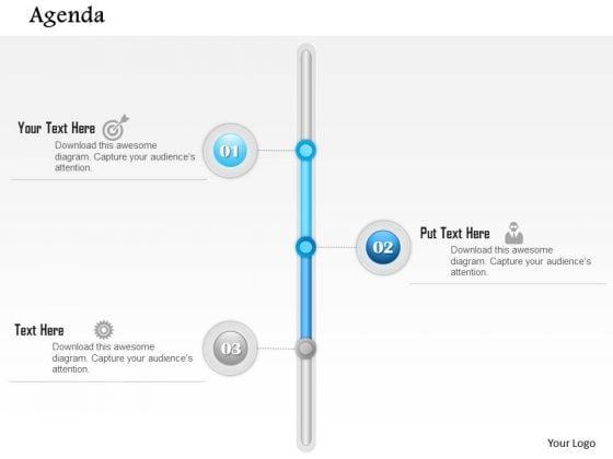 Business Diagram Vertical Three Point Agenda Diagram Presentation Template