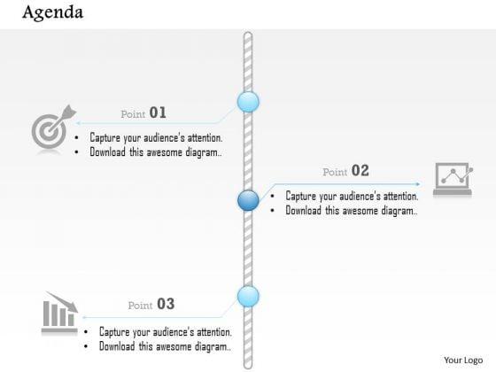Business Diagram Vertical Three Points Timeline Agenda Presentation Template