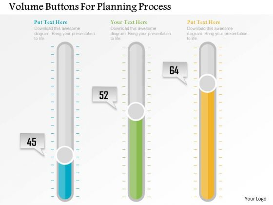 Business Diagram Volume Buttons For Planning Process Presentation Template