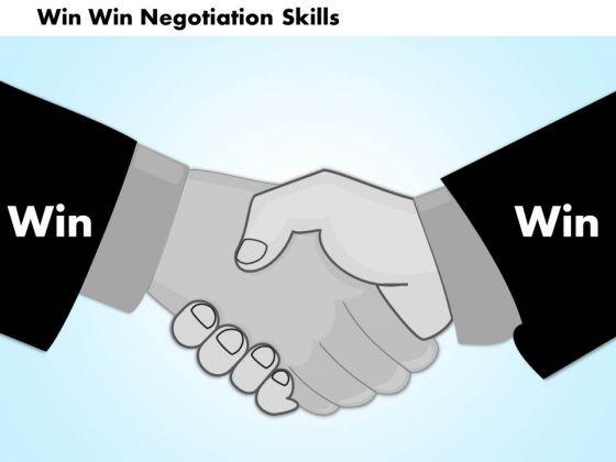 Business Diagram Win Win Negotiation Skills PowerPoint Ppt Presentation