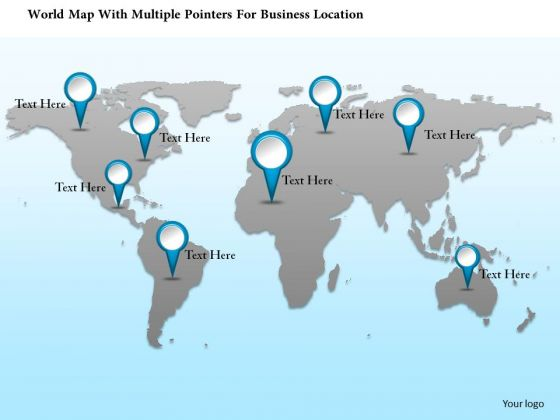 Business diagram world map with multiple pointers for business business diagram world map with multiple pointers for business location presentation template powerpoint templates gumiabroncs Gallery