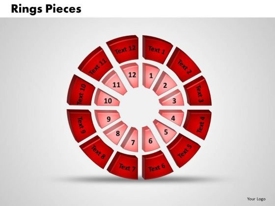 Business Diagrams PowerPoint Templates Business 3d Double Concentric Rings Pieces Ppt Slides