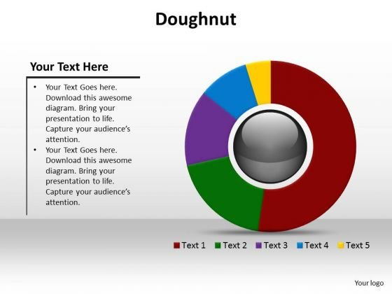 Business Diagrams PowerPoint Templates Business Doughnut Ppt Slides