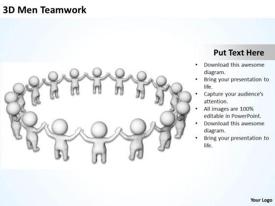 Business Diagrams Templates 3d Men Teamwork PowerPoint Ppt Backgrounds For Slides