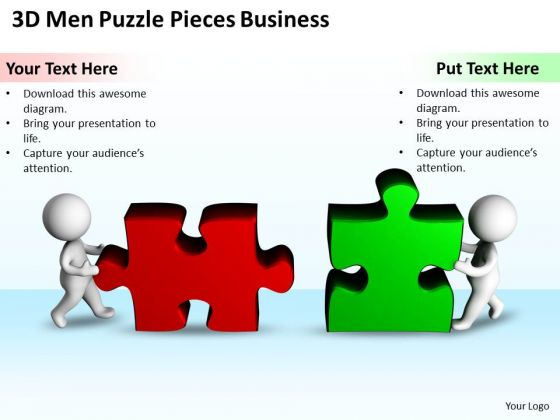 Business Diagrams Templates Puzzle Pieces New PowerPoint Presentation Slides