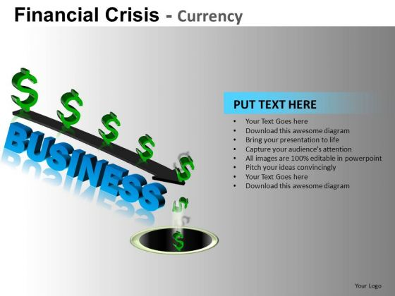 Business Down The Drain PowerPoint Slides
