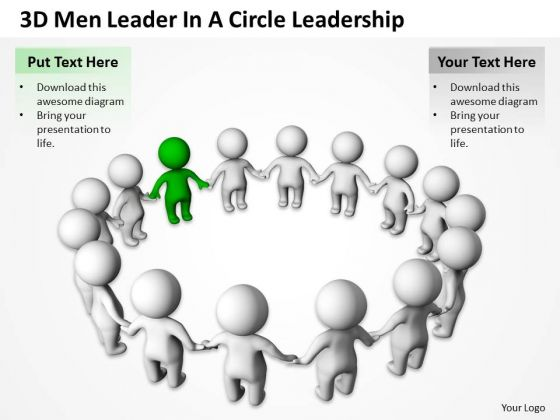 Business Entity Diagram Circle Leadership PowerPoint Templates Ppt Backgrounds For Slides