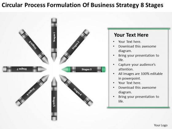 Business Entity Diagram Process Formulation Of Strategy 8 Stages Ppt PowerPoint Slide